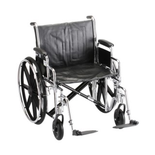 """Wheelchair- 24"""" With Detachable Arms Detachable Arms & Swingaway Footrest"""
