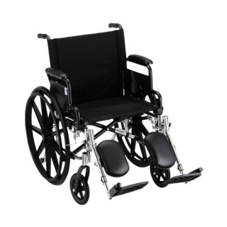 "Wheelchair- 18"" Lightweight With Flip Back Detachable Arms & Elevating Legrest"